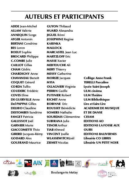 liste des auteurs facebook